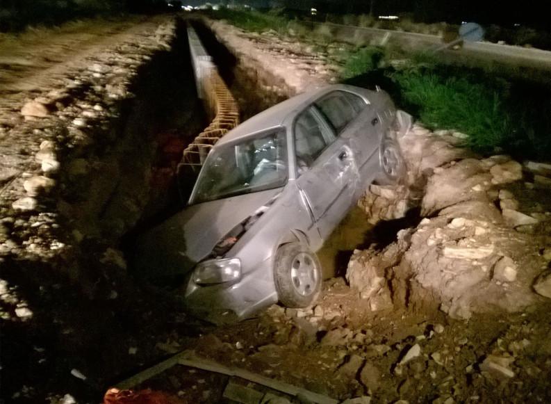 """Incidente sulla SP 1 """"Andria-Trani"""": auto in un burrone laterale"""