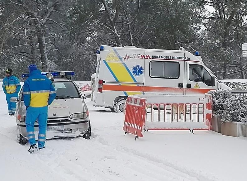 Emergenza neve, Misericordia in campo con volontari e mezzi