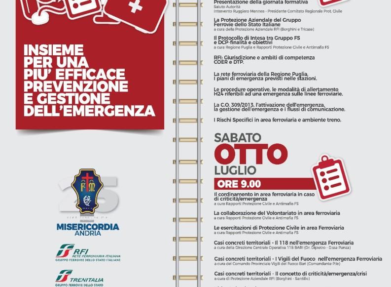 Prevenzione e gestione dell'emergenza, una due giorni formativa ad Andria