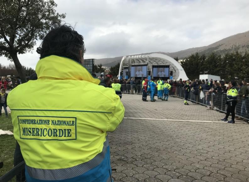 Papa Francesco a San Giovanni Rotondo: oltre 250 volontari in campo delle Misericordie di Puglia