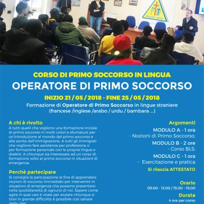 Al via le iscrizioni per un corso gratuito di Primo Soccorso in italiano e lingue straniere