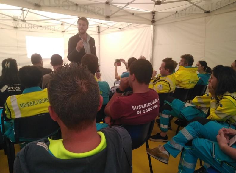 Misericordie di Puglia al REAS di Brescia con volontari e nucleo cinofilo
