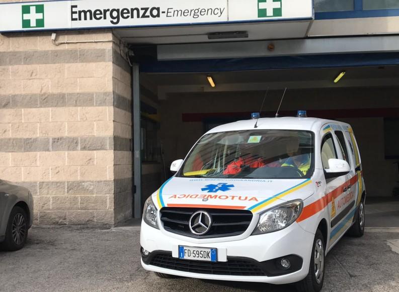 Terza postazione del 118 ad Andria: al via oggi con l'automedica
