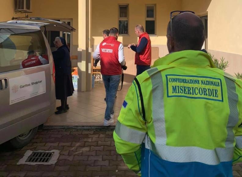 Primo giorno di lavoro per i volontari delle Misericordie in Albania