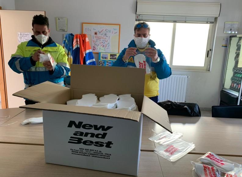Coronavirus, il cuore grande di un'azienda di Barletta: 1800 mascherine per i volontari della Misericordia