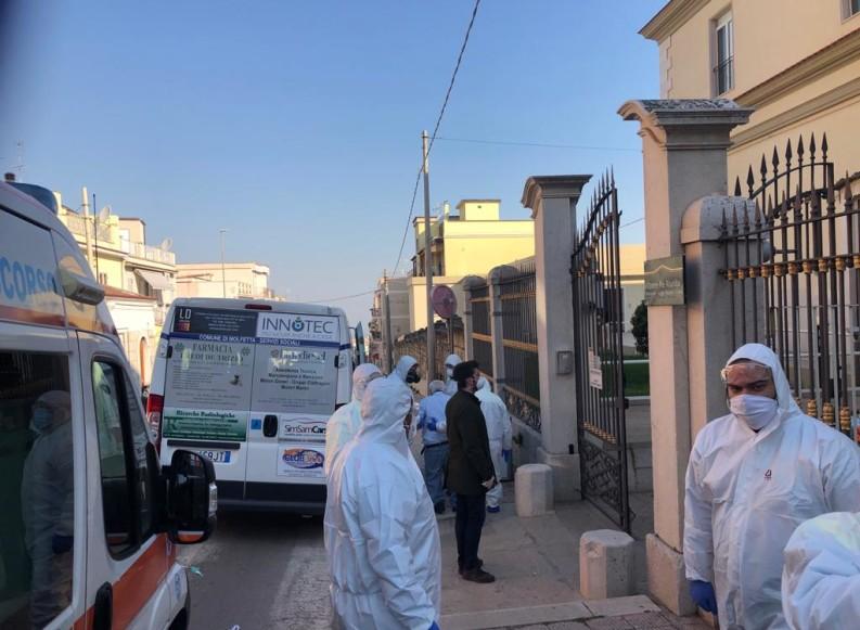 """Nove ospiti negativi di """"Villa Bilanzuoli"""" a Minervino trasferiti a Canosa: importante operazione delle Misericordie"""