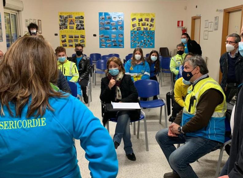 Visita istituzionale del neo Sindaco di Andria Giovanna Bruno presso la sede della Misericordia